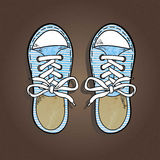 Striped sneakers Royalty Free Stock Image