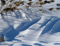 Striped snow Royalty Free Stock Photos