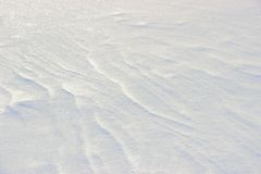 Striped snow cover Stock Images