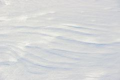 Striped snow cover Stock Photography