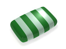 Striped soap. On white background vector illustration