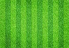 Soccer football grass field. Striped soccer football grass field texture, background with copy space Stock Photos