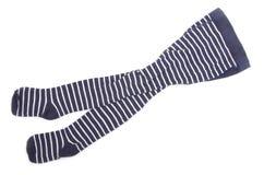 Striped sock stock image