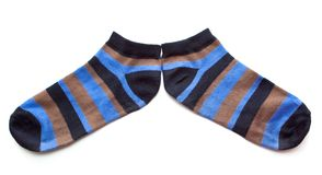 Striped socks. Royalty Free Stock Photo