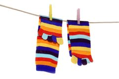 Striped socks. Isolated on white Stock Image