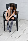 Striped socks Stock Photo