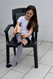Striped socks Stock Photos