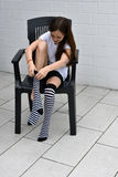 Striped socks Stock Photography