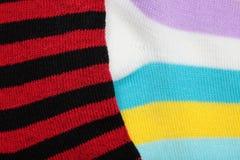 Striped socks Stock Image