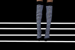 Striped socks Royalty Free Stock Photography