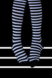 Striped socks Royalty Free Stock Images