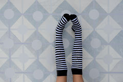 Striped socks Royalty Free Stock Image