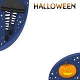 Striped socks and halloween pumpkin Royalty Free Stock Photo