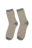 Striped socks. Pair of striped socks closeup Stock Images