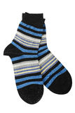 Striped socks. Pair of striped socks isolated on white Stock Image