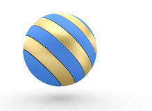 Striped sphere Royalty Free Stock Photo
