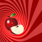 Striped spiral apple patisserie background. Stock Images