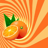 Striped spiral orange confectioners background. Stock Photo