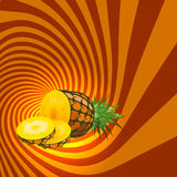 Striped spiral pineapple confectioners background. Royalty Free Stock Photo