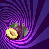 Striped spiral plum confectioners background. Royalty Free Stock Image