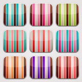 Striped squares Royalty Free Stock Images