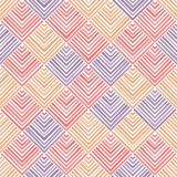 Striped squares pastel colored geometric abstract seamless pattern, vector royalty free illustration
