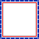 Striped star American frame. stock image