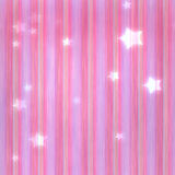 Striped and star background. Pink striped background with stars vector illustration