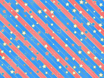 Striped and starred background. Holiday and festive striped and starred background Stock Photos