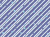 Striped and starred background Stock Images