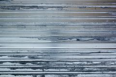Striped steel metal sheet construction background stock image
