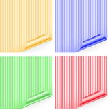 Striped stickers Stock Images