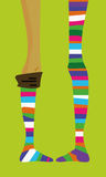 Striped stocking Stock Image