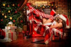 Striped stockings Stock Photo