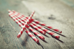 Striped straws Royalty Free Stock Photography
