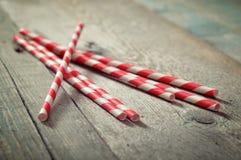 Striped straws Stock Photo