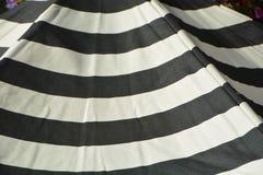 Striped Street Umbrella in Salem, Oregon. This is a striped street umbrella outside a cafe in Salem, Oregon stock photo