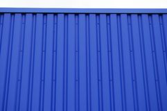 Striped structure. Close up blue metal sheets Royalty Free Stock Photography