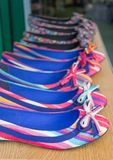 Striped, Summer Shoes Stock Images