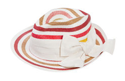 Striped sun hat Royalty Free Stock Photography