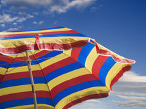 Striped sunshade Royalty Free Stock Images
