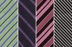 Striped Swatches тканья Стоковые Фотографии RF