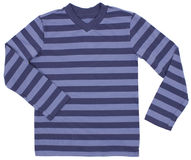 Striped sweater for children isolated on white Stock Photography