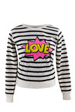 Striped sweater with `Love` sign Royalty Free Stock Photography