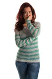 Striped sweater Stock Photos