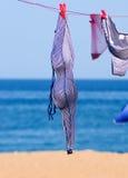 Striped swimsuit Stock Photos