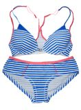 Striped swimsuit with blue line Stock Images