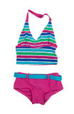 Striped swimsuit Stock Photography