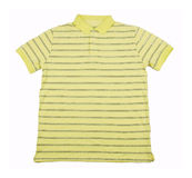 A striped T-shirt. There is a A striped T-shirt on the white background Royalty Free Stock Image