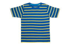 Striped T- shirt isolated on white Royalty Free Stock Photography